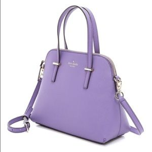 Kate Spade Cedar Street Maise Bag purple leather